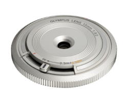OLYMPUS Body Cap Lens 15mm 1:8.0 SILVER
