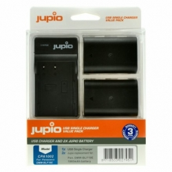 Jupio Kit 2x DMW-BLF19E + USB Single Charger pro Panasonic