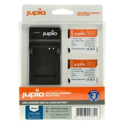 Jupio Kit 2x DMW-BCM13E + USB Single Charger pro Panasonic