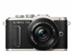 OLYMPUS PEN E-PL8 1442 Pancake Zoom Kit black/blk Traveler Kit