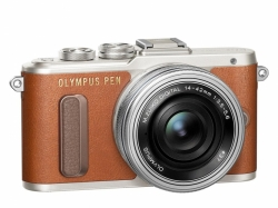OLYMPUS PEN E-PL8 1442 Pancake Zoom Kit brown/slv Traveler kit