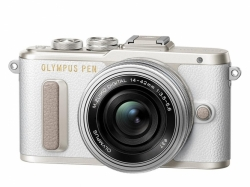 OLYMPUS PEN E-PL8 1442 Pancake Zoom Kit white/slv Traveler Kit