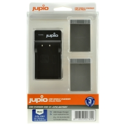 Jupio Kit 2x Battery PS-BLS5 / PS-BLS50 1210mAh + USB Single Charger