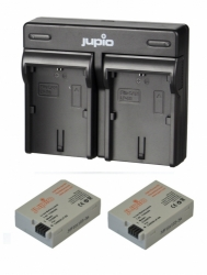 Jupio Kit 2x Battery LP-E8 1120mAh + USB Dual Charger